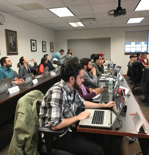 Rutgers coding Bootcamp in classroom